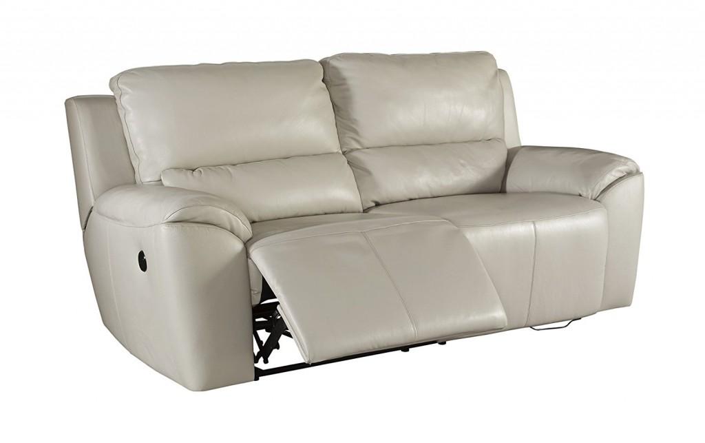 Ashley Valeton U7350047 86 Leather Match 2 Seat Reclining Power Sofa