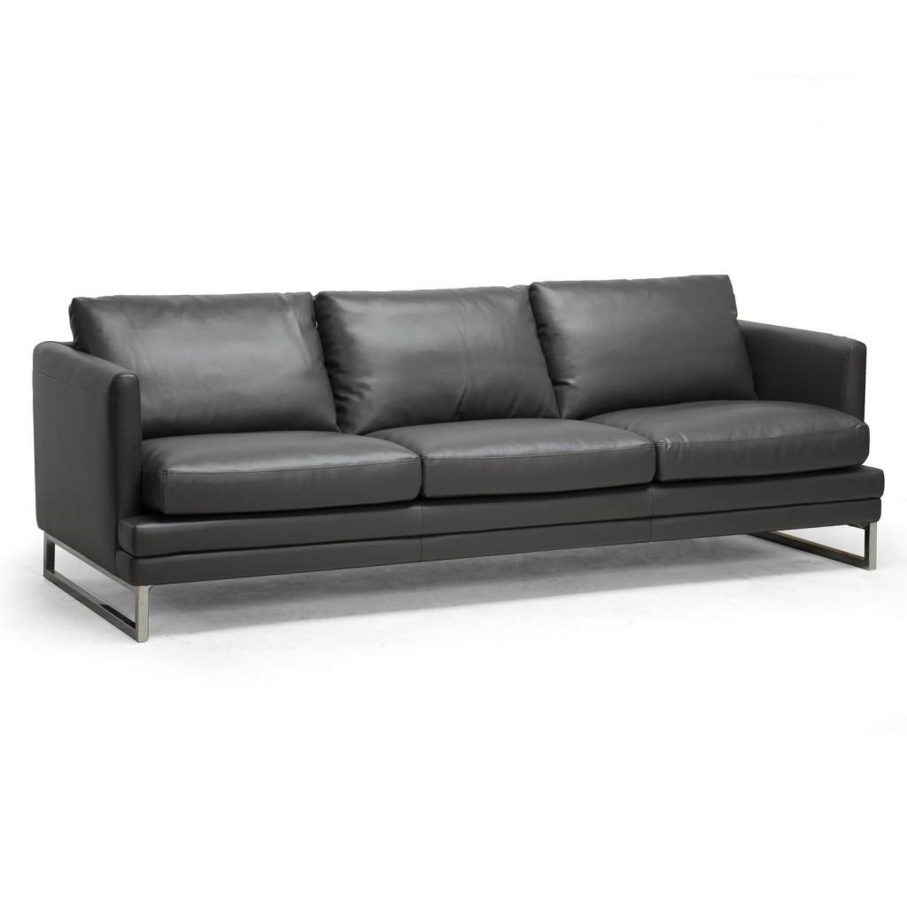 Baxton Studio Dakota Leather Modern Sofa