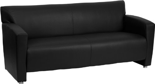 HERCULES Majesty Series Black Leather Sofa