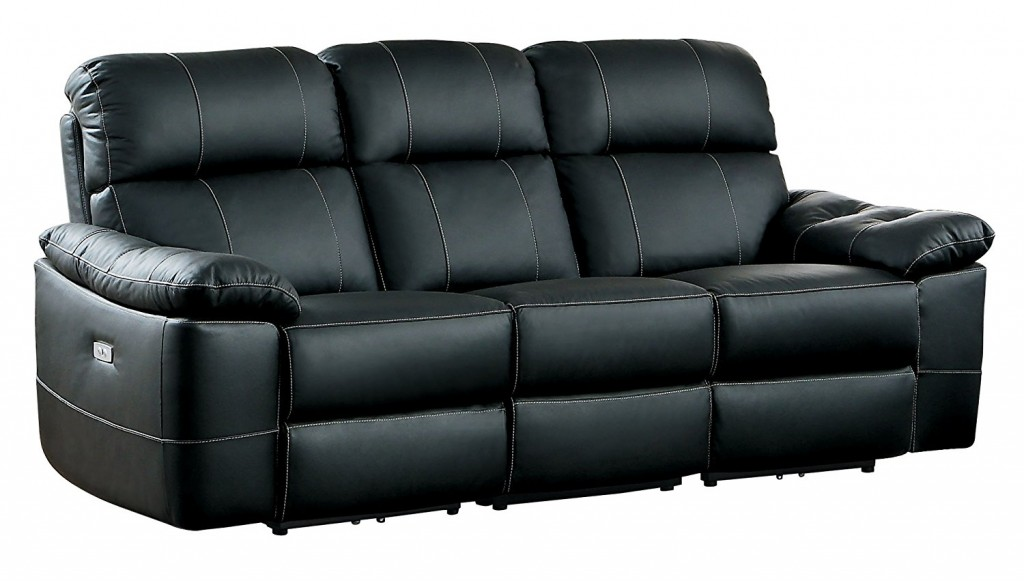Homelegance Nicasio Contemporary All Genuine Leather Power Reclining Sofa