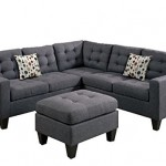 Modern Contemporary Polyfiber Fabric Sectional Sofa