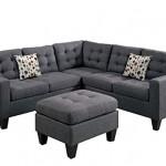 Modern Contemporary Polyfiber Fabric Sectional Sofa