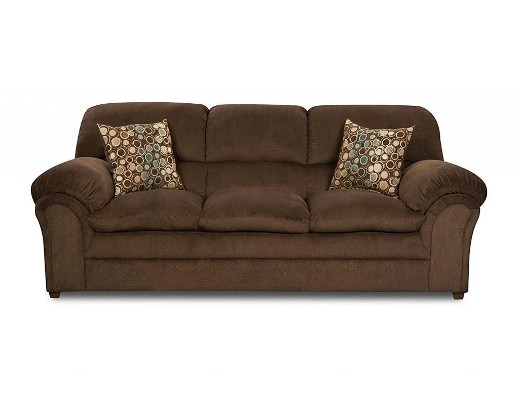Simmons Upholstery 6150 03 Harper Umber Sofa
