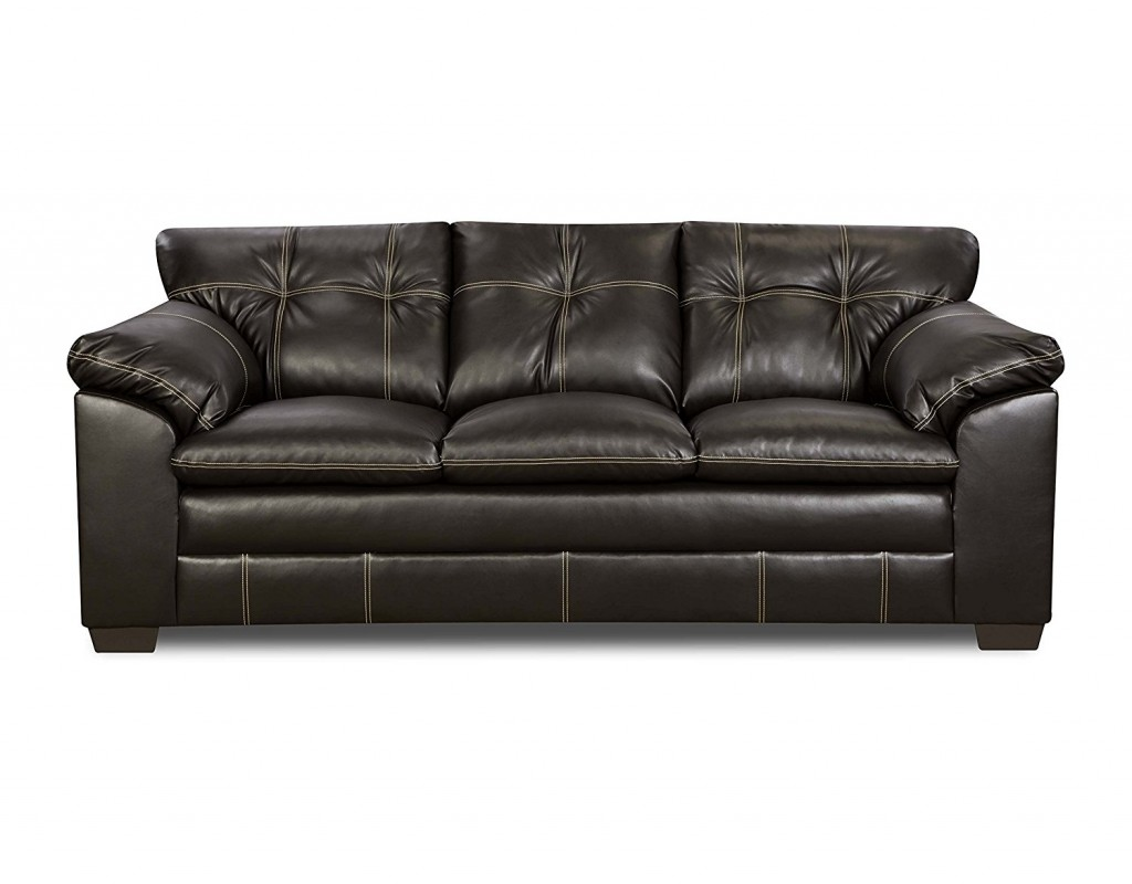 Simmons Upholstery 6769 03 Premier Chocolate Bonded Leather Sofa