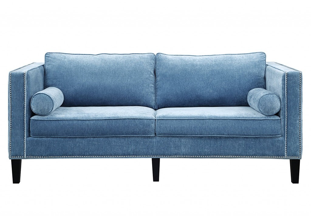 TOV Furniture The Cooper Collection Contemporary Style Velvet Upholstered Living Room Sofa