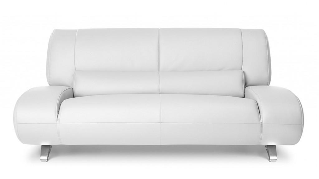 White Aspen Leather Loveseat