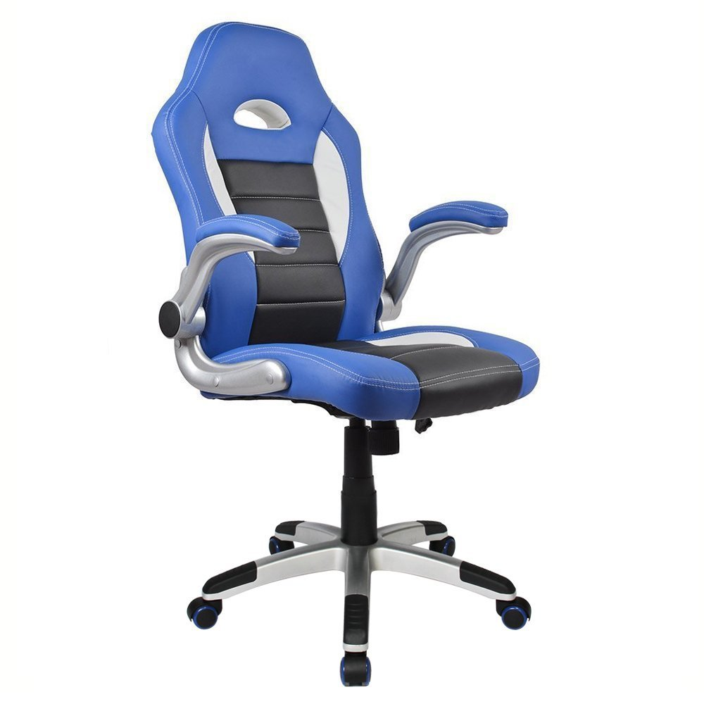Blue Leather Executive Chair
