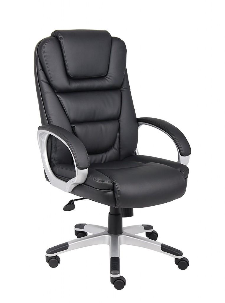 Boss Black Leatherplus Executive Chair