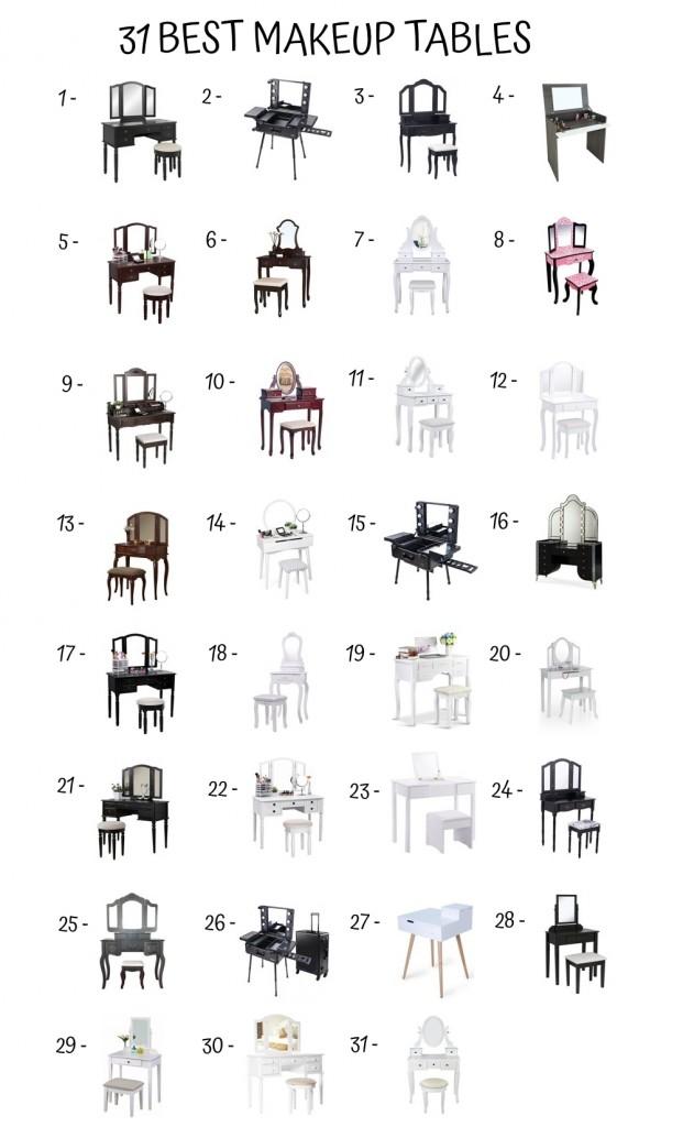 31 Best Makeup Table
