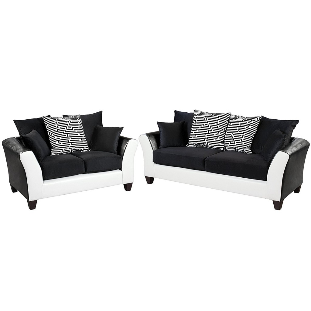 Black And White Living Room Set