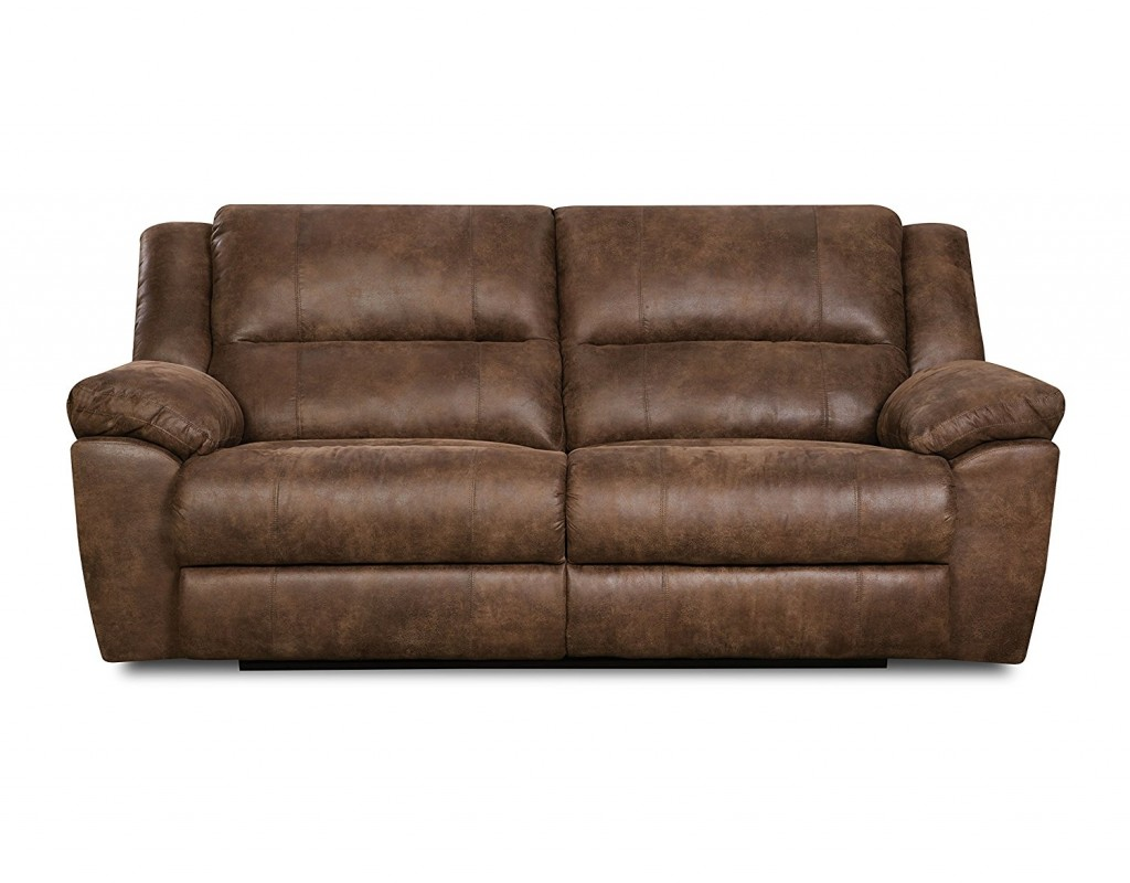 Distressed Leather Couch