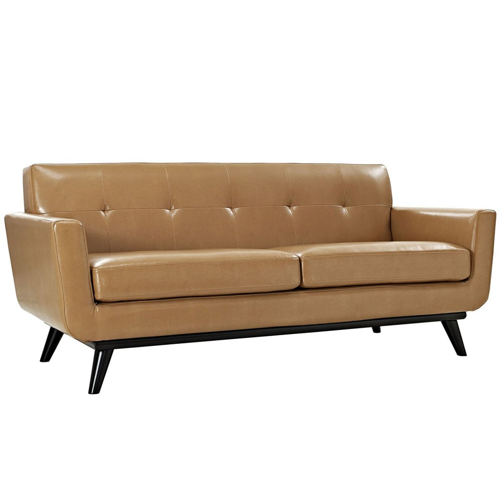 Light Tan Leather Couch