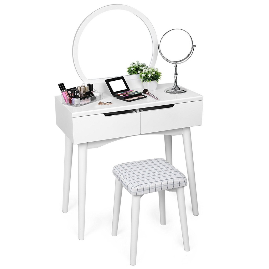 Makeup Table With Drawers