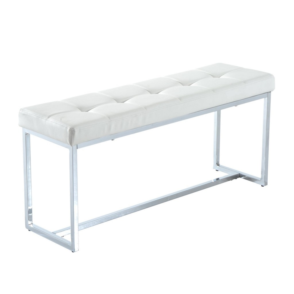 White Vanity Bench