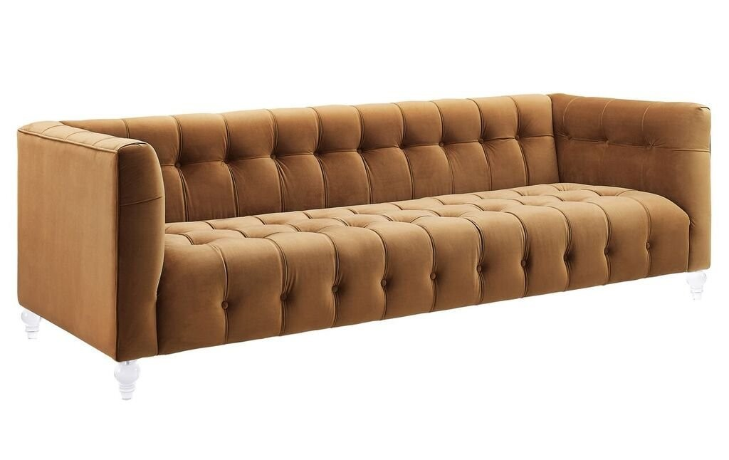Cognac Leather Couch
