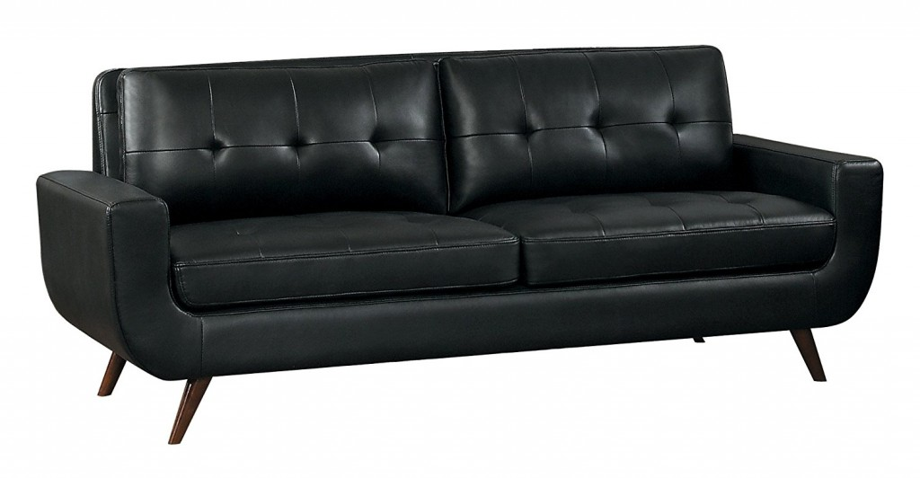 Curved Leather Couch
