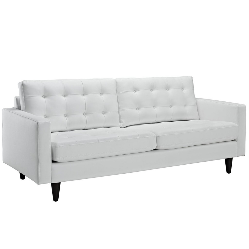 Off White Leather Couch
