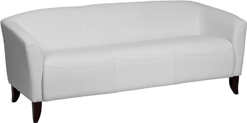 White Leather Couch Set
