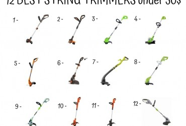 12 Best String Trimmers Under 50$