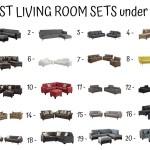 20 Best Living Room Sets Under 1000$