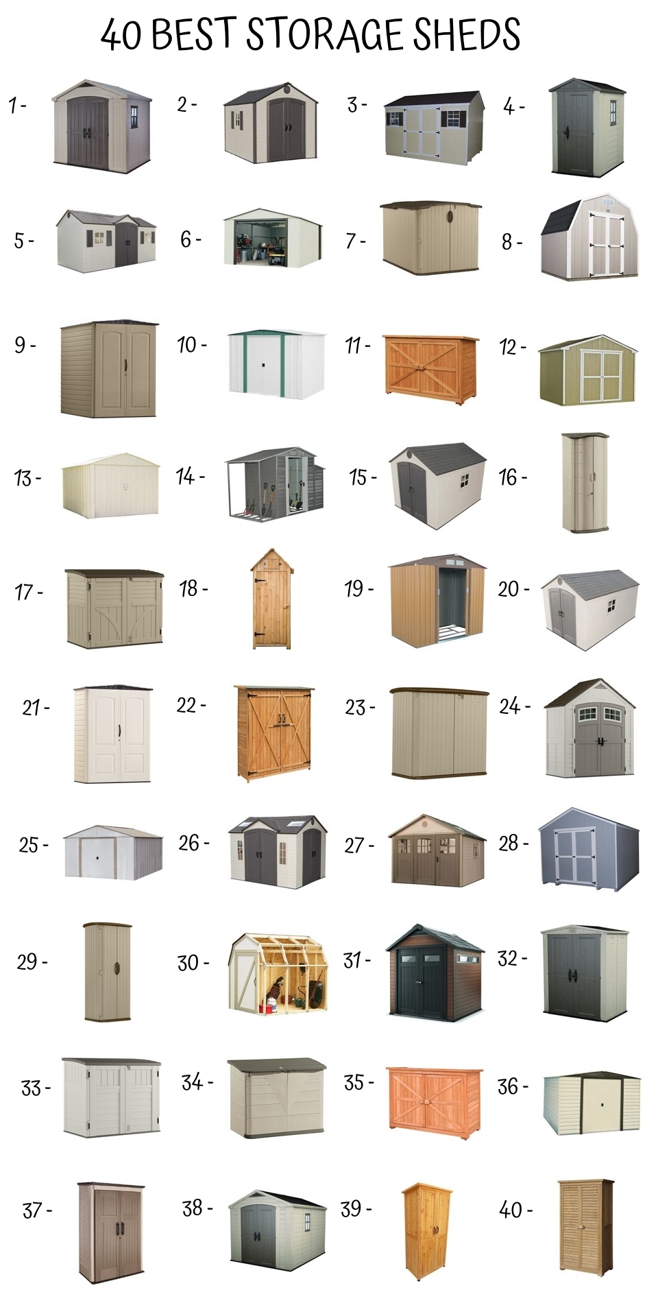 40 Best Storage Sheds