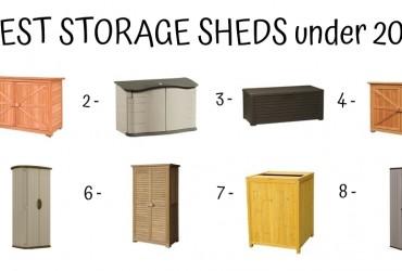 8 Best Storage Sheds Under 200$