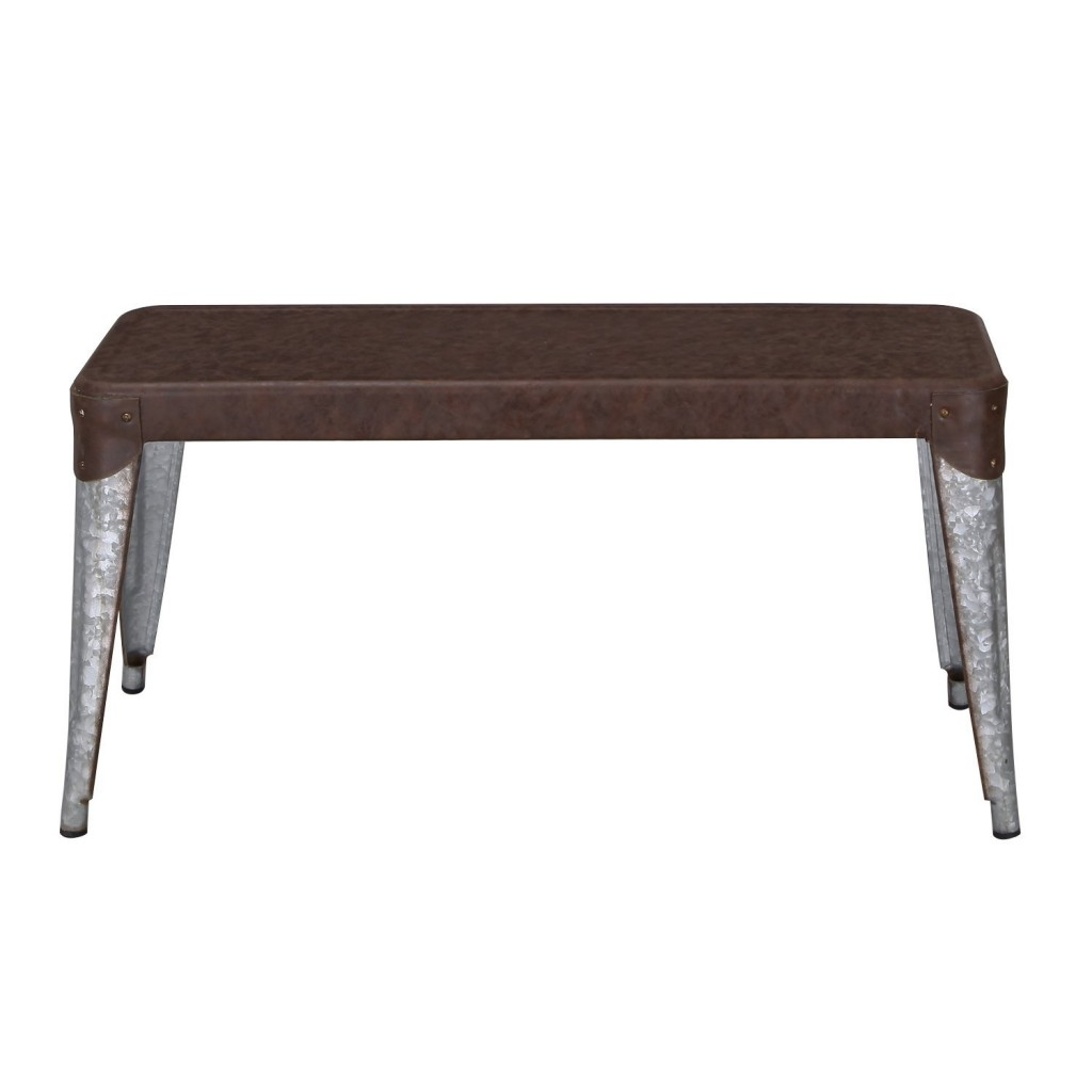 Adeco Vintage Style Metal Dining Table Bench