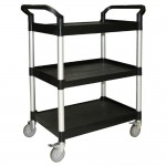 BUS CARTS BLACK & GREY MADE FOR CLEAN UP