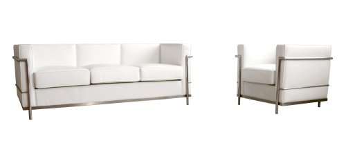 Baxton Studio Le Corbusier Style Petite Sofa Chair Set