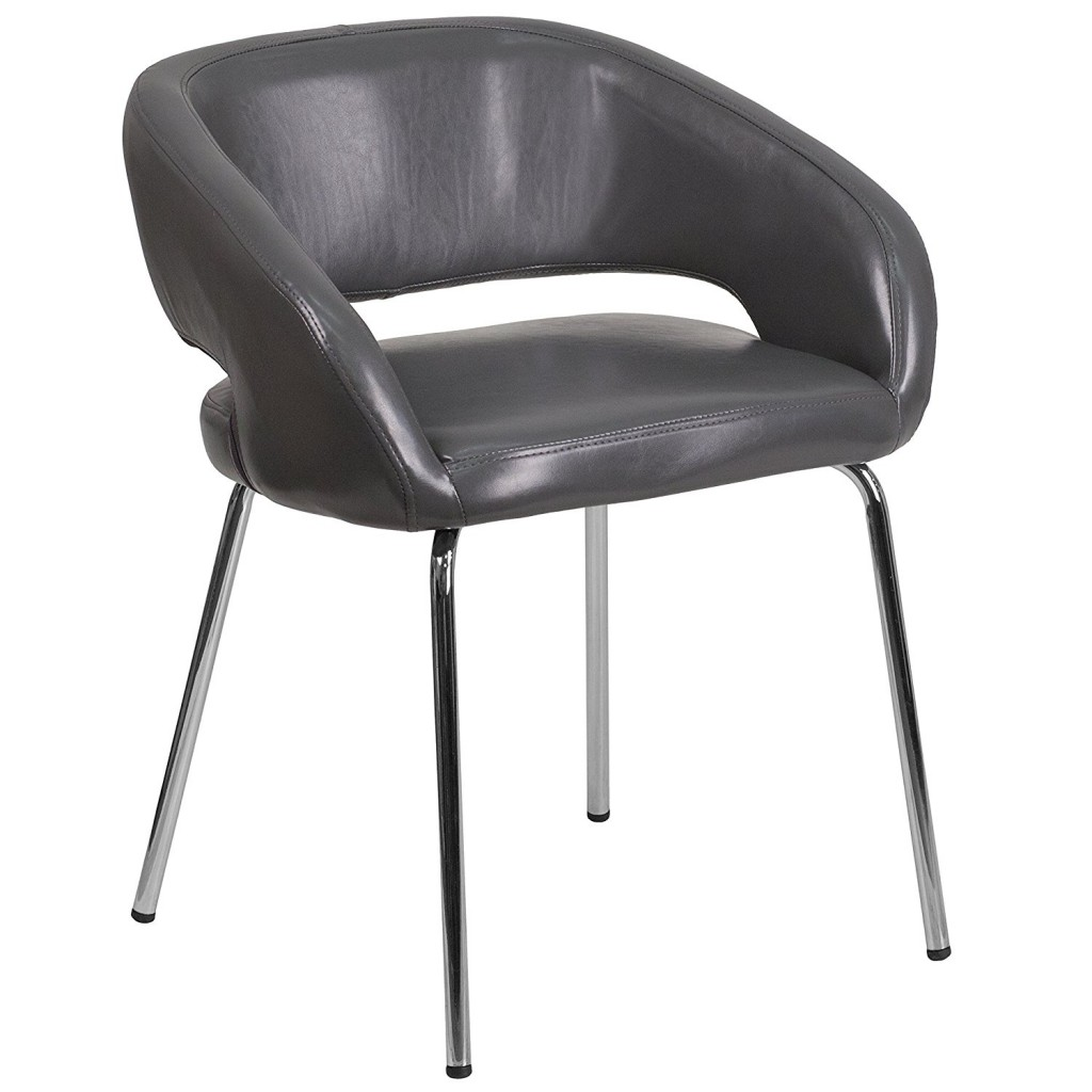 Flash Furniture Fusion Series Leather Side Reception Chair