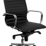 Flash Furniture High Back Black Ribbed Leather Executive Swivel Chair