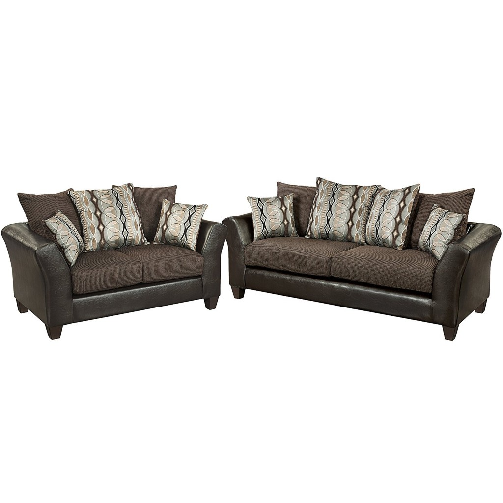 Flash Furniture Riverstone Rip Sable Chenille Living Room Set