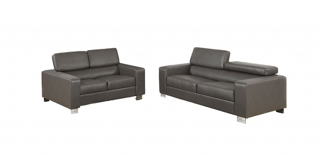 Furniture Of America Bloomsbury 2 Piece Bonded Leather Match Sofa Set