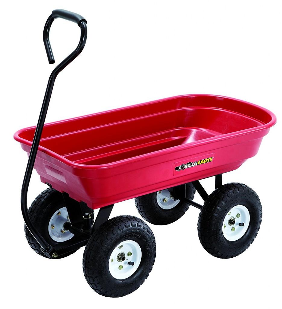 Gorilla Carts GOR100 14 Poly Garden Cart
