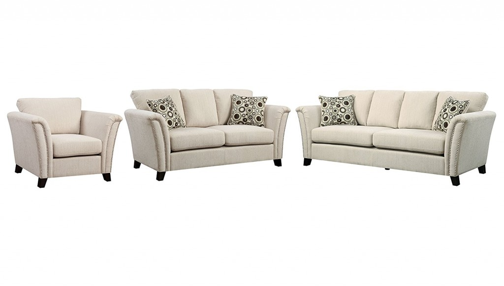 HOMES Inside Out Avalina Contemporary Style 3 Piece Sofa Set