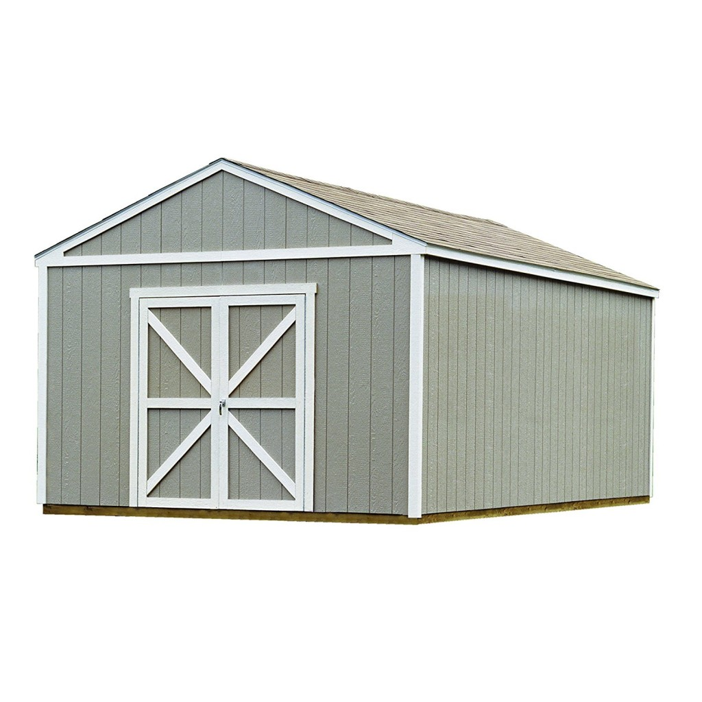 Handy Home Products Columbia Wooden Storage Shed With Floor