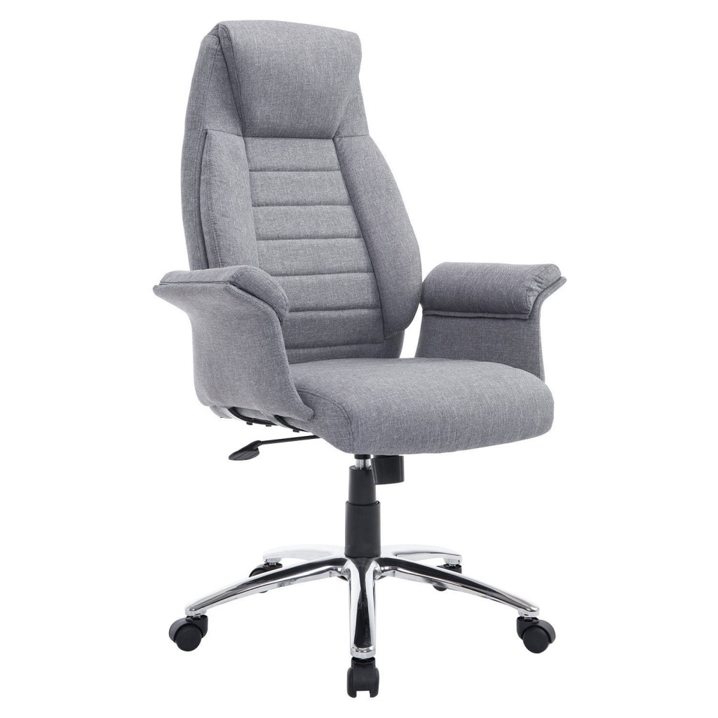 HomCom High Back Fabric Executive Office Chair