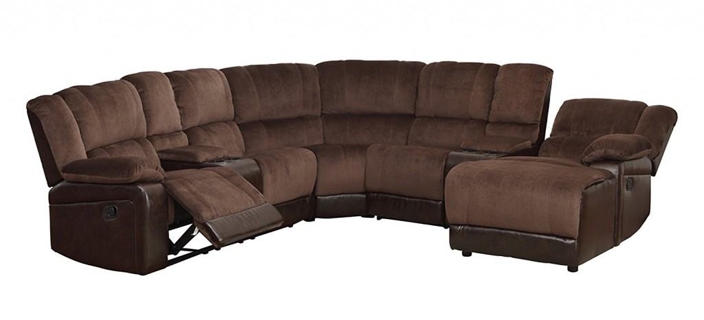 Homelegance 5 Piece Microfiber Bonded Leather Sectional Reclining Sofa