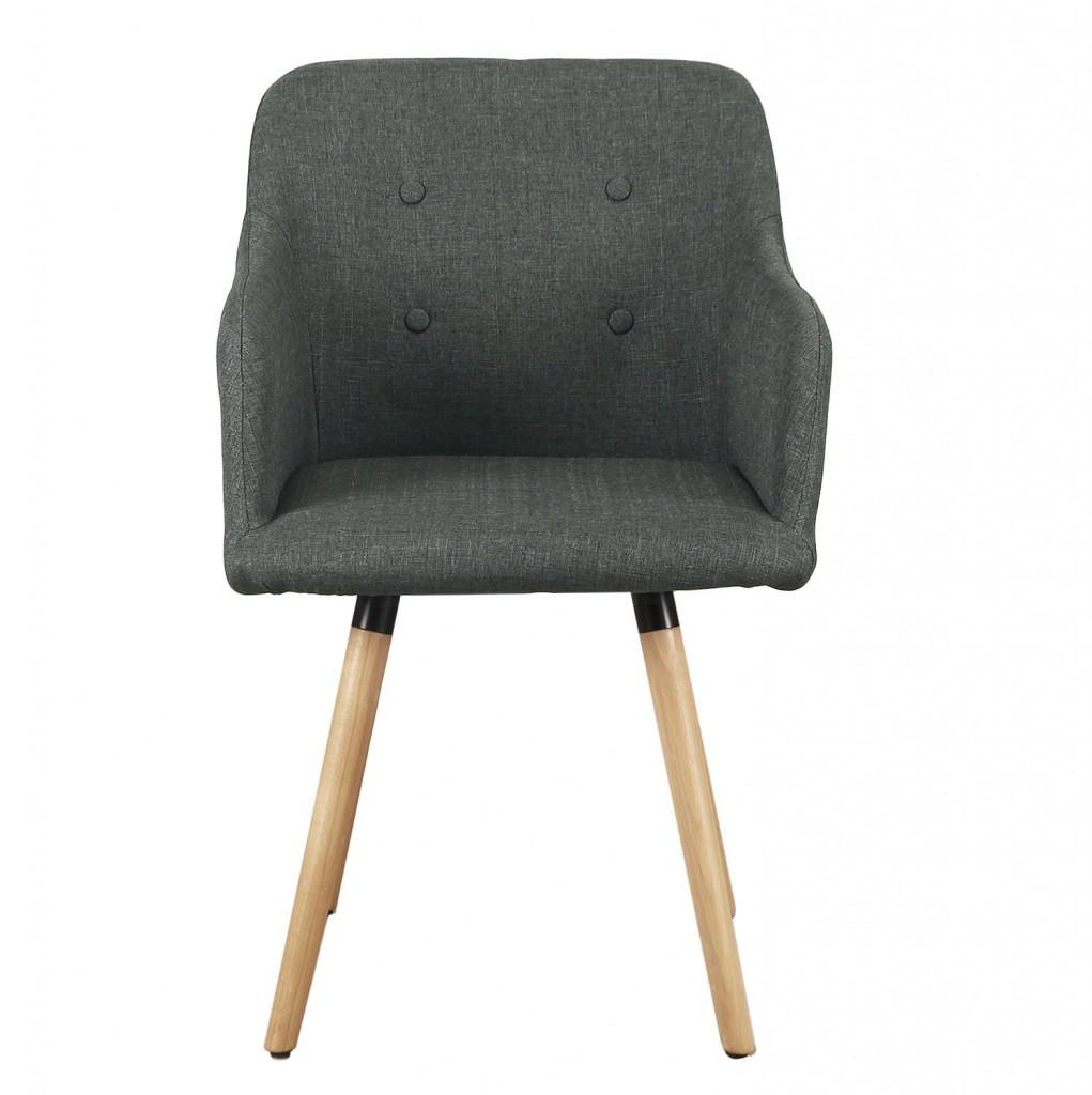 Home's Art Mid Century Deep Grey Bentwood Leisure Chair