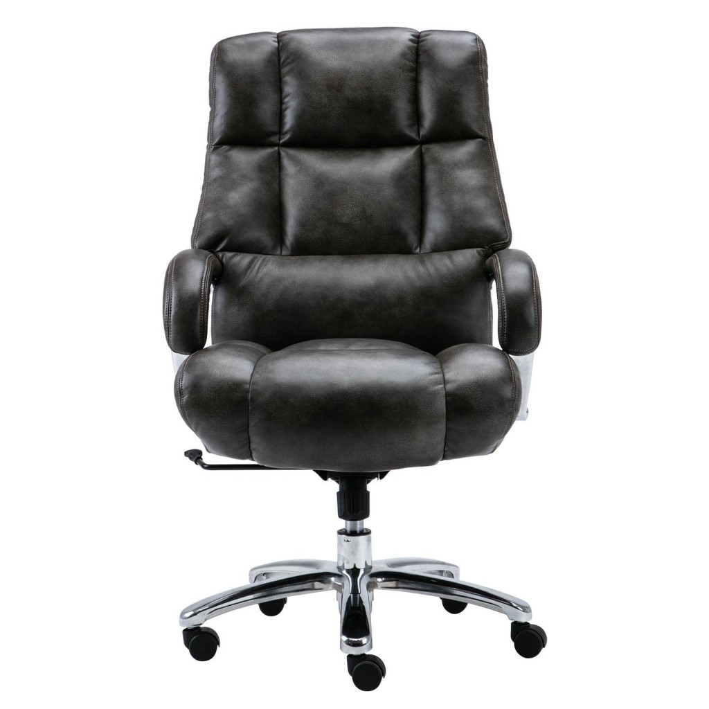 LYON Big And Tall Overstuffed Faux Leather High Back Office Chair