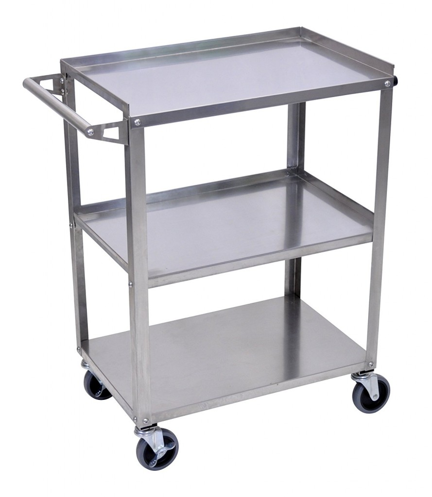 Luxor (SSC 3) Stainless Steel Utility Cart