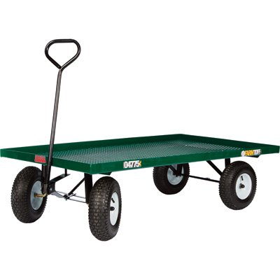 Metal Deck Wagon Garden Cart