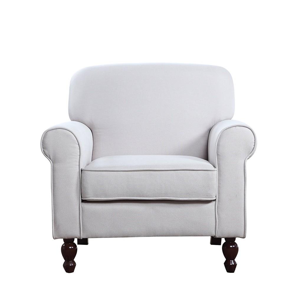 Mid Century Modern Fabric Living Room Armchair