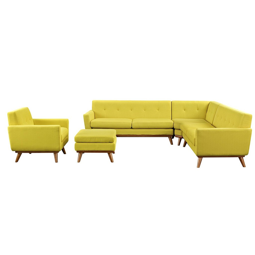 Modway Engage Mid Century Modern Sectional Sofa