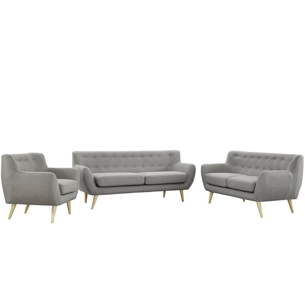 Modway Remark Mid Century Modern Sofa, Armchair