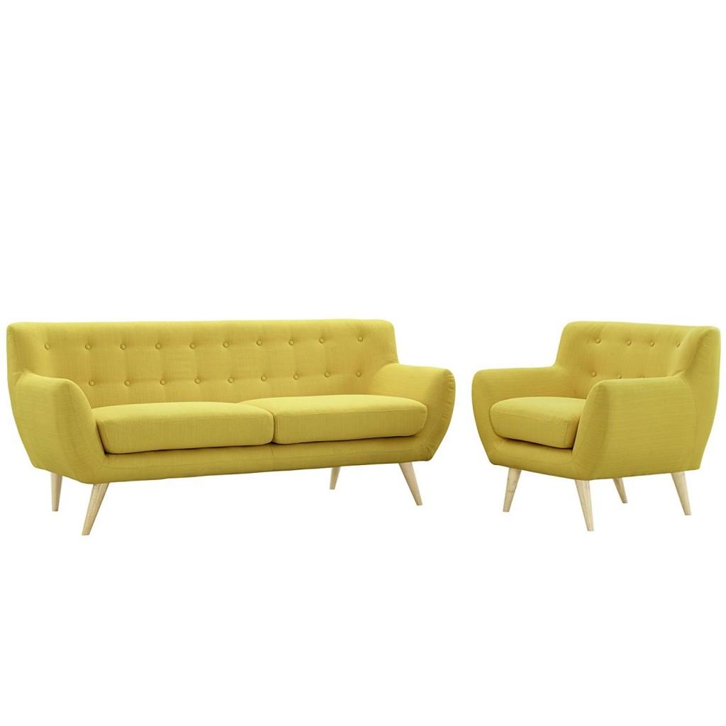 Modway Remark Mid Century Modern Sofa And Armchair