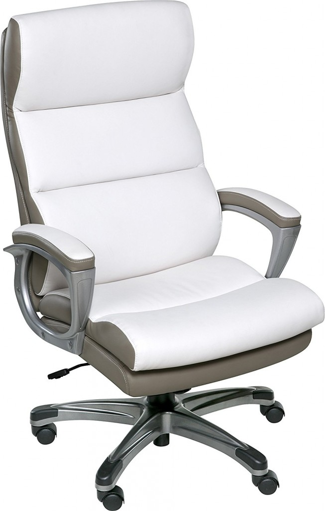 OneSpace 60 583008 Roosevelt High Back Two Tone Executive Chair