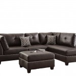 Poundex Bobkona Viola Bonded Leather Left Or Right Hand Chaise SECTIONAL Set