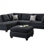 Poundex Bobkona Viola Linen Like Polyfabric SECTIONAL Set