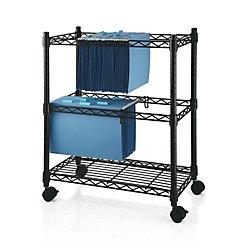 Realspace(R) 2 Tier File Cart